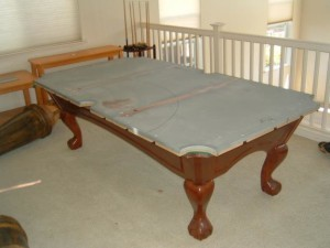 Proper pool table moving process in Corry Pennsylvania